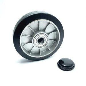D160 x 47mm Rubber & Aluminium Steer Wheel