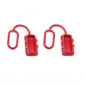 Anderson Plug Dust Cover – End Cap for SB175 AMP Connector (Red Rubber) x2no.