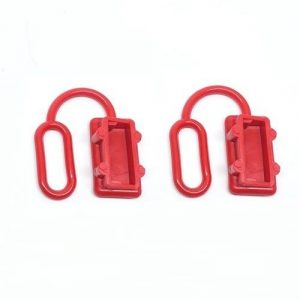Anderson Plug Dust Cover- End Cap for SB50 AMP Connector (Red Rubber) x2no.