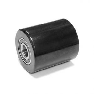 D80mm x 90mm – Black PU & Steel Core Single Load Roller inc. D20mm bearings