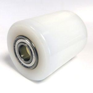 AC25 Pallet Truck – D82mm x 90mm White Nylon Single Load Roller – 20mm Stainless Steel Bearings