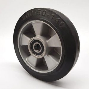 Crown PTH – D200mm x 50mm Rubber & Aluminium Steer Wheel  – CR82274