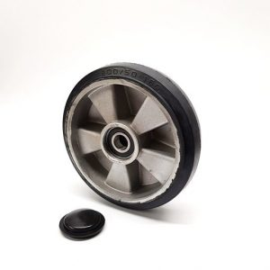 D180mm x 50mm, Rubber & Aluminium steer wheel – W50mm hub