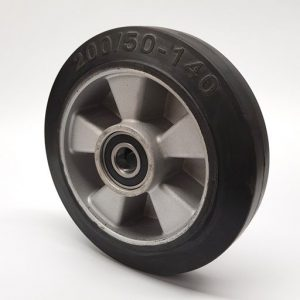 D200mm x 50mm, Rubber & Aluminium steer wheel – W60mm hub