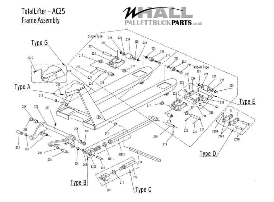 Frame Assembly Parts - TotalLifter AC25