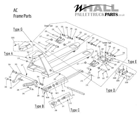 Frame Assembly Parts - AC Pallet Truck