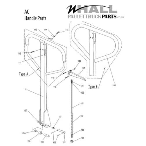 Handle and Pump Assembly Parts - Warrior WR25