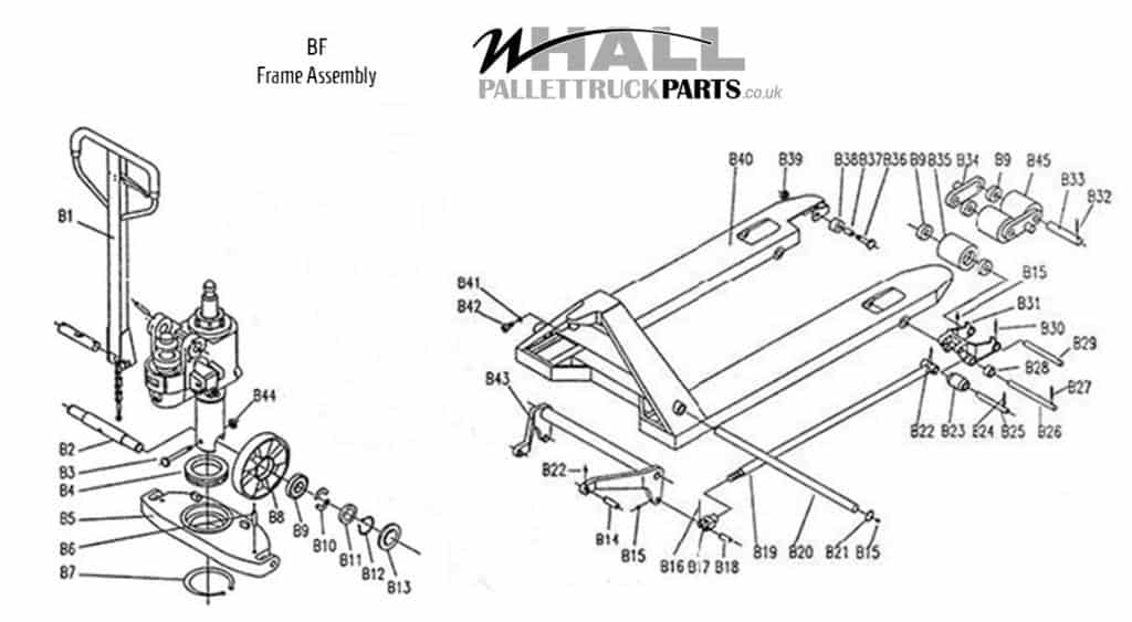 Frame Assembly Parts - BF Pallet Truck