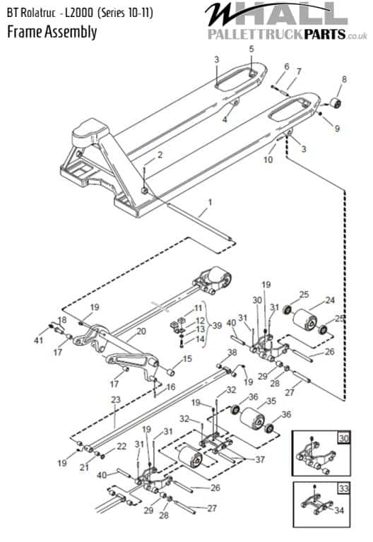 Frame Assembly Parts > BT L2000 (Series 10-11)