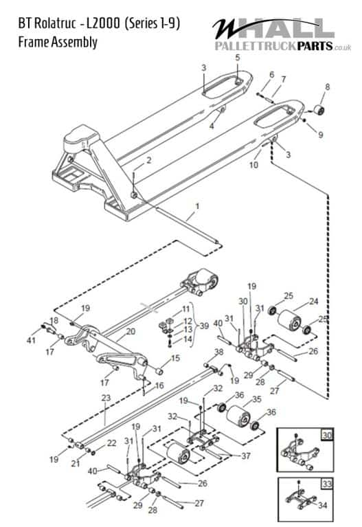 Frame Assembly Parts > BT L2000 (Series 1-9)
