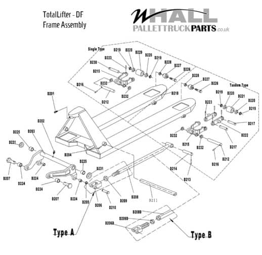 Frame Assembly Parts - TotalLifter DF (TRP 0005)