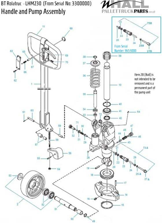 Frame Assembly Parts - BT LHM230 (From Serial Number 3300000)