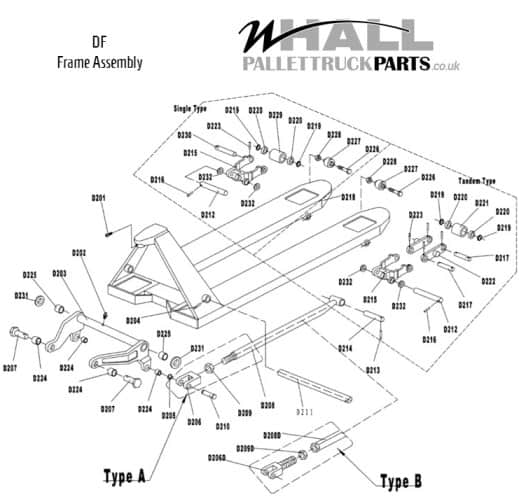 Frame Assembly Parts - Ameise Basic (DF)