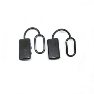 Anderson Plug Dust Cover – End Cap for SB175 AMP Connector (Black Rubber) x2no.