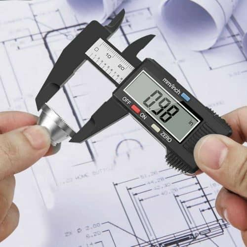 6'' LCD Digital Vernier Caliper Micrometer Measure Tool Gauge Ruler 150mm Black