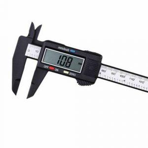 """6"""" LCD Digital Vernier Caliper Micrometer Measure Tool Gauge Ruler 150mm Black"""