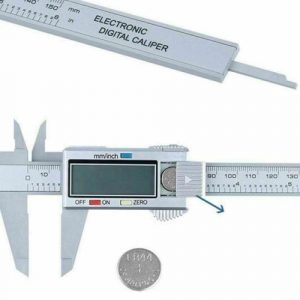 "6"" LCD Digital Vernier Caliper Micrometer Measure Tool Gauge Ruler 150mm Silver"