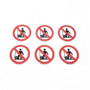 Electric Pallet Truck – Do Not Ride on Pallet Truck Sticker – x6no.