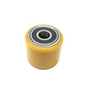 D70 x 60mm – Orange PU & Steel Core Tandem Load Roller