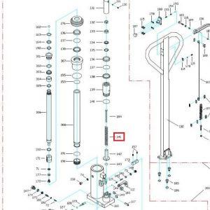 Eurolifter HLT1/1.5 High Lift Pallet Truck – Main Spring